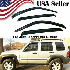 4pc Window Visors Rain Guard Set For Jeep Liberty 2002 2003 2004 2005 2006 2007