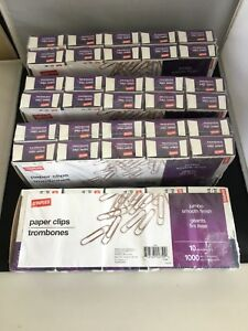 Jumbo Paper Clips Smooth Finish 1000x4 Packs 4000