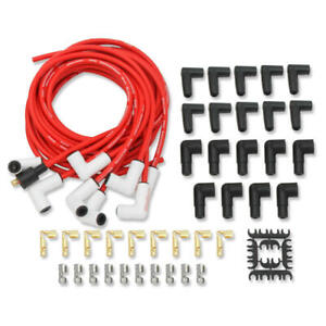 Mallory Spark Plug Wire Set 937c Psw Ceramic Boot 8 0mm Red Spiral Wound For V8