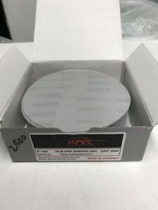Sanding Disc 6 2500 Grit Hook And Loop Disc 50 Pieces Auto Body