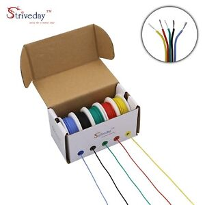 30 Awg Flexible Silicone Wire Electric Gauge Coper Hook 300v Cables Electronic