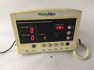 Welch Allyn 52000 Series Vital Sign Blood Pressure Pulse Temp Patient Monitor