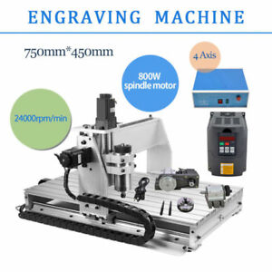 Used Cnc6040z 4 Axis Usb Router Engraver Engraving Drilling Milling Machine