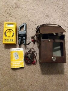 Digital Multimeter Beckman Industrial Hd110t W Case Probe And Induction Clamp