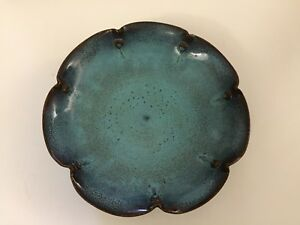 Rare Chinese Antique Porcelain Jun Kiln Lotus Shape Plate Song Dynasty