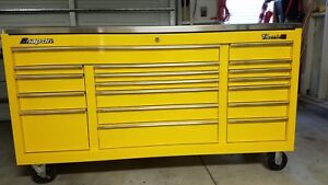 Snap On Tool Box Classic 96 With Stainless Top Cover Yellow Kra 2418