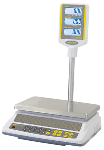 Commercial 60 Lb Price Computing Scale Pole Display Easy Weigh
