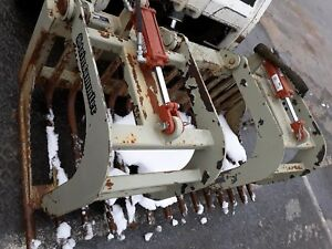 Used 650 Steinsammler Rock Grapple Bucket W teeth Skid Steer Bobcat Universal Qa
