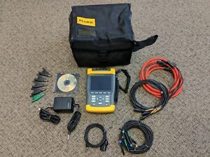 Fluke 435 3 Phase Power Quality Pq Energy Analyzer Excellent Accessories