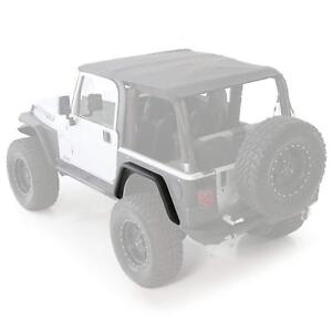 Smittybilt Xrc Rear 3 Fender Flares Black For 97 06 Jeep Wrangler Tj Lj