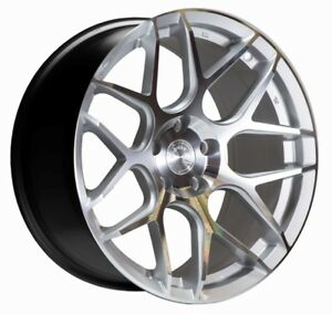 18 Ls002 Silver Machined Face Wheels For 5x100 18x9 Et30 Set Of 4