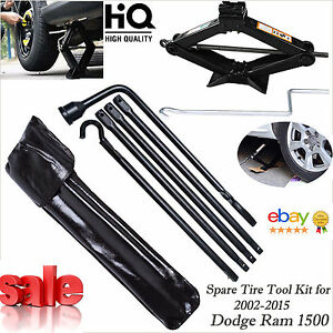 For Dodge Ram 1500 02 2015 Spare Tire Lug Wrench Tools Set W Bag 2t Scissor Jack