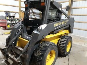 2004 New Holland Ls180 Skid Steer Loader 2 Speed Super Boom Used Nh Gehl Bobcat