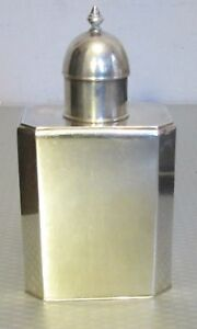 Victorian Antique English Sterling Silver Flask Dresser Vanity Bottle Jar 153g