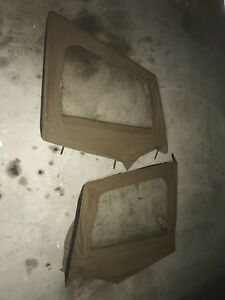 1987 1995 Jeep Wrangler Soft Top Upper Door Windows With Frame Pair
