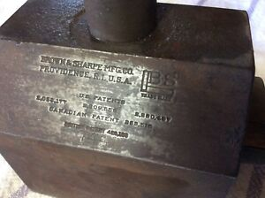 Heavy Duty Brown Sharpe Magnetic Base No 744 Machine Lathe Stand Holder Large
