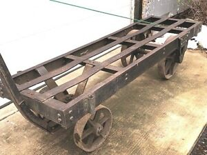 Industrial Steam Punk Heavy Steel Railroad Manufacturing Loading Cart Niles Ohio