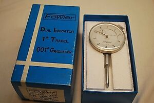 New Fowler Dial Indicator 52 520 110 T 1 Travel 001 Graduation In Box Tool