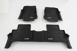 Toyota Tacoma Double Cab 2012 2015 1st 2nd Row Floor Mats Combo Pack Black