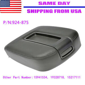 Leather Synthetic Armrest Center Console For Chevy Tahoe Suburban 07 13 Black