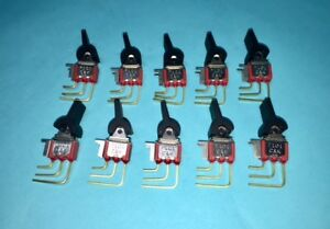 Lot Of 10 C K Components 7101 Toggle Switch On on 0 4 Va Max