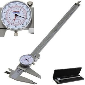 Anytime Tools Dial Caliper 12 300mm Metric inch Sae Standard Mm Dual Hand