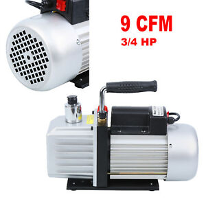 9cfm Deep Rotary Vane Vacuum Pump 3 4hp Hvac Ac Refrigerant Air Conditioning