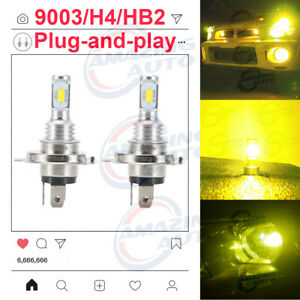 New 2x H4 9003 8000k Ice Blue 8000lm Cree Led Headlight Bulbs Kit High Low Beam