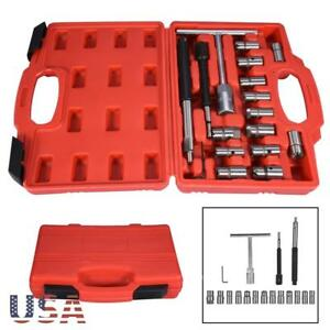 17pc Diesel Injector Seat Cutter Set Universal Tool Kit