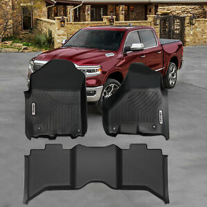 Oedro Liners Floor Mats Fit For 2012 2019 Dodge Ram 1500 Crew Cab All Weather