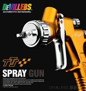 Devilbiss Gfg Lvlp England Gravity Feed Air Paint Spray Gun 600ml Cup