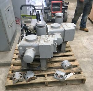 Beck 11 463 1 4 turn Rotary Electric Actuators on off Service 1000 Ft lbs