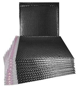 10 Pack Metallic Bubble Mailers 15 X 17 Black Padded Envelopes Shipping Bags