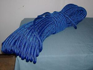 Double Braid Polyester 5 8 x200 Feet Arborist Rigging Tree Bull Rope Blue Black