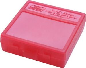 MTM Case New MTM Plastic Ammo Box 100 Round 9MM P100-9-29 Clear Red
