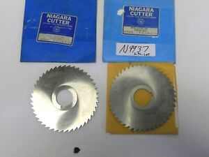 N9937 2pc lot Usa concave Side Metal Slitting Saws 5 d x 1 8 x 1 1 4 arb h