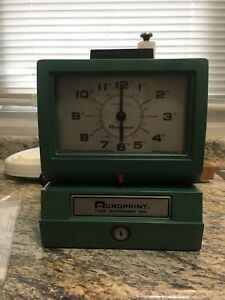 Vintage Acroprint Time Clock Recorder Model 125nr4 With Keys Instructions
