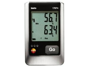 Testo 176 T4 0572 1764 4 channel Temp Logger With 4 External Thermocouple Conn