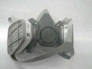 6200 M 3m Half Face Mask Respirator With 2 Attached 7093 Niosh Filters med used