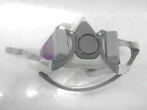 6100 S 3m Half Face Mask Respirator With 2 Attached 7093 Niosh Filters Size smal