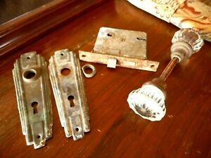 Door Plates Glass Door Knob Salvaged For Restoration Farmhouse Country Vintage