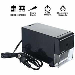 Electric Pencil Sharpener heavy Duty Automatic Helical Steel Blade Sharpens All