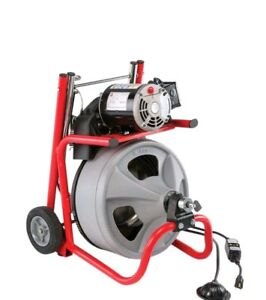Ridgid 115 volt K 400 Drain Cleaning Drum Machine With C 32 3 8 In Integral