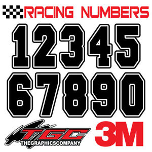 Racing Numbers Vinyl Decals Stickers Boat Car Bmx Bike Off Road Sprint Quad Frsh