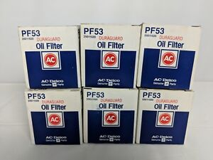 Vintage Pf53 Ac Delco Oil Filters X6