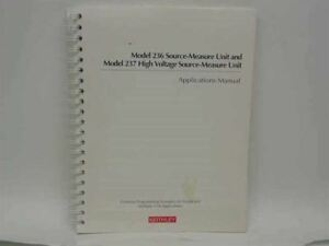 Keithley Model 236 237 Source measure And High Voltage Sour 236 904 01 Rev D