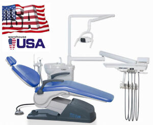 Dhl Ship Dental Unit Chair Computer Controlled A1 Sky Blue M4 110v Fda In Usa