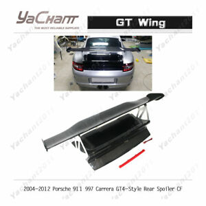 Carbon Rear Spoiler Fit For 2004 2012 Porsche Carrera 911 997 Gt4 Style Gt Wing