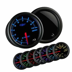 Glowshift Tinted 7 Color 10 000 Rpm Tachometer Gauge For 1 10 Cylinder Gas
