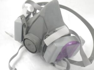 6300 L 3m Half Face Mask Respirator W 2 Attached 7093 Niosh Filter large used